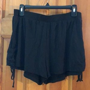 Dark gray stretchy shorts
